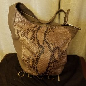 Gucci Greenwich Snakeskin Python Leather Hobo